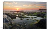 St Ives Bay Sunset, Canvas Print