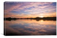 Colwick Lake Reflections, Canvas Print