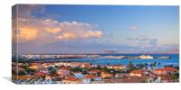View of Corralejo Fuerteventura, Canvas Print