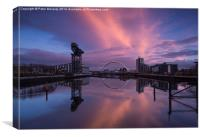 Glasgow at sunset !, Canvas Print