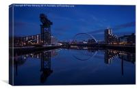 Twilight on the Clyde ., Canvas Print