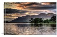 Beyond Derwentwater, Canvas Print