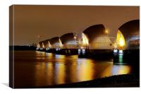 Thames Barrier, London,, Canvas Print