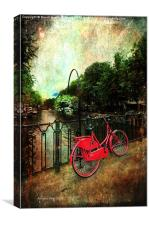 The Red Bicycle, Canvas Print