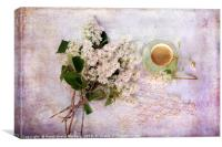 Coffee and Spring, Canvas Print