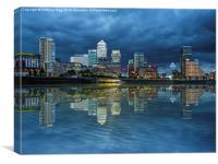 Docklands London, Canvas Print