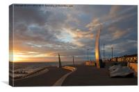 The Seaswallow at sunset Cleveleys, Canvas Print