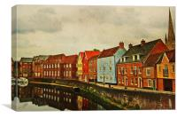 Norwich Reflected, Canvas Print