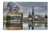 Lichfield Cathedral, Canvas Print