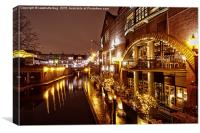 Brindleyplace At Night, Canvas Print