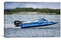 Powerboat GP Championship At Chasewater, Canvas Print