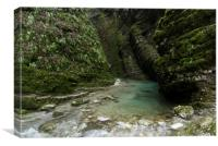 Soca River Gorge, Canvas Print