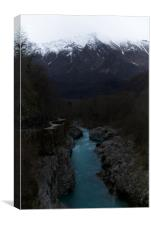 The Soca River Izonso, Canvas Print