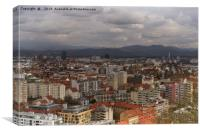 Over The Rooftops of Ljubljana , Canvas Print