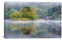 The Boathouse at Rydal Water., Canvas Print