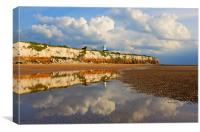 Old Hunstanton Reflection, Canvas Print