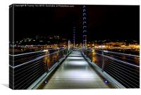 Torquay Harbour Footbridge, Canvas Print