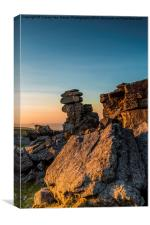 Golden Staple Tor, Canvas Print