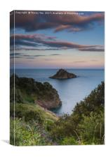 Thatcher Rock at Sunset , Canvas Print