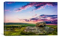 Sunset Over Dartmoor., Canvas Print