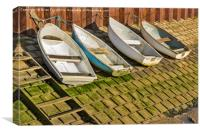 All lined up, Canvas Print