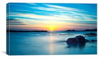 Streaky Sunset, Canvas Print