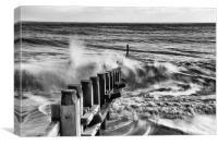 Southwold Waves, Canvas Print