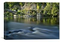 Bridge And River Spey, Canvas Print