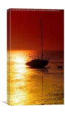 Evening Sunset at Herne Bay, Canvas Print
