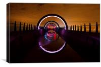 Tunnel of colour, Canvas Print