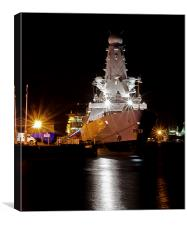 HMS Duncan docked in Dundee, Canvas Print