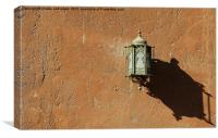old arabic lamp on wall, Canvas Print