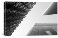 Looking up London, Canvas Print