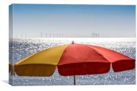 Clacton Seaside in March Sunshine, Canvas Print