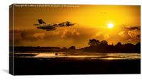 As The Sun Sets On The Vulcan Bomber, Canvas Print