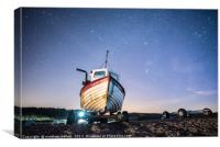 Shooting Stars and Orion Over Weybourne Beach, Canvas Print