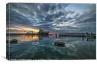 Sunset At Ha Penny Pier, Canvas Print