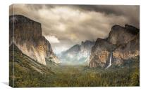 Storm Clouds over Yosemite, Canvas Print