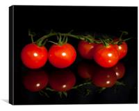 Ripe and juicy Vine tomatoes, Canvas Print