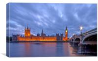 Houses of Parliament at Dusk, Canvas Print