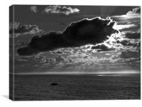 Martins Haven in Black&White, Canvas Print