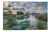 Martham Boat yard, Canvas Print