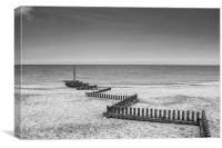 Caister Beach, Canvas Print