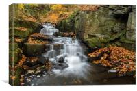 Lumsdale in Autumn, Canvas Print