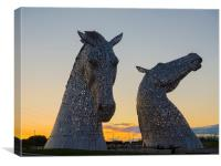 The Kelpies, Falkirk., Canvas Print