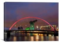 Glasgow at night., Canvas Print