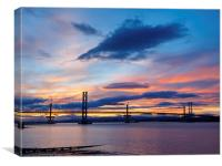 South Queensferry Sunset, Canvas Print
