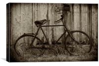 Old rusty bicycle., Canvas Print