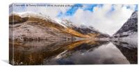 Panoramic view of Loch Achtriochtan, Glencoe., Canvas Print