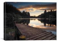 Loch Ard at Sunset, Canvas Print